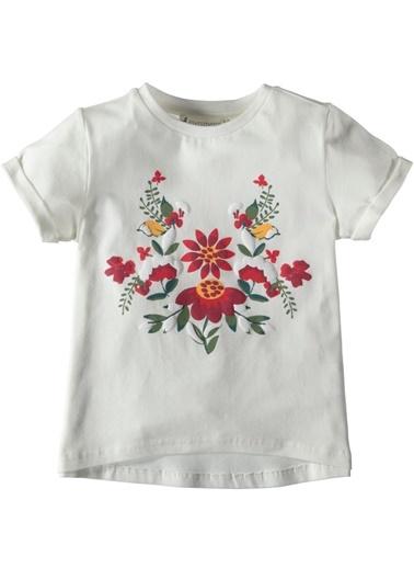 Çiçek Baskılı Tişört-Asymmetry